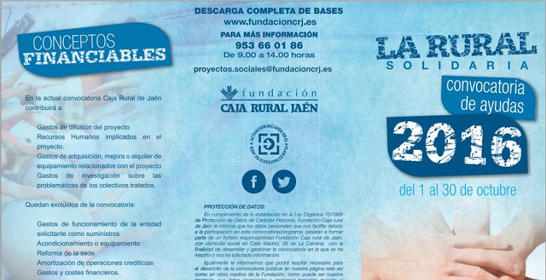 La caja rural de ja n convoca el rural solidaria 2016 for Caja rural jaen oficinas